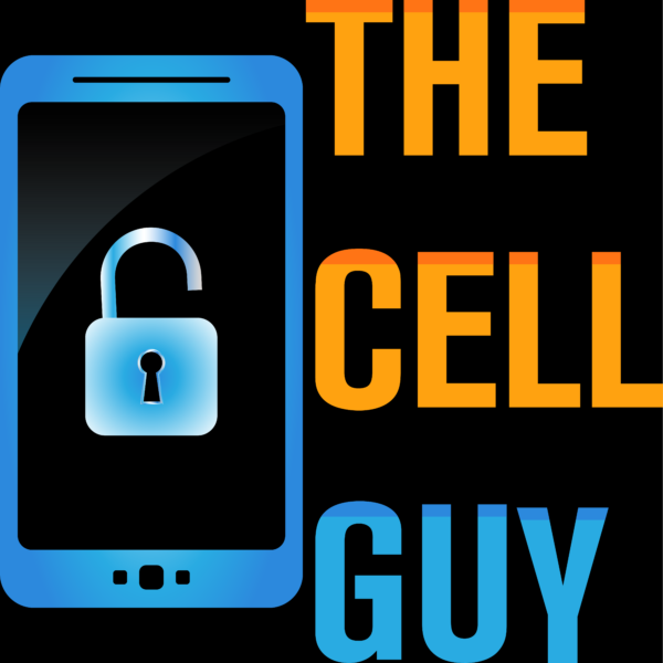 THE CELL GUY LOGO_1200 X 1200 Black Bg